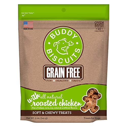 Buddy Biscuits Grain Free Soft and Chewy Dog Treats w/Chicken - 5oz. (Buddy Cloud Splash Star)