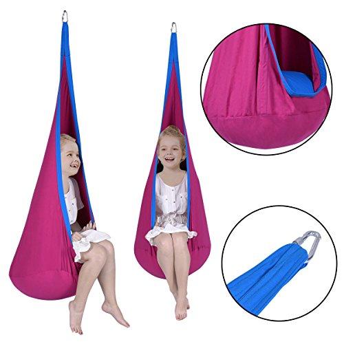 NYC STORES Child Pod Swing Chair Tent Nook Indoor Outdoor Hanging Seat Hammock Kids - Store Nyc