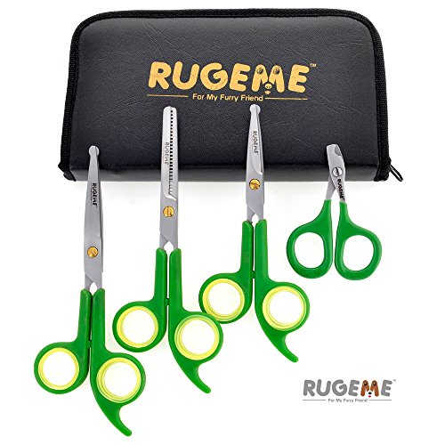 Rugeme Professional 4 Piece Dog Grooming Scissors Set