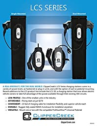 ClipperCreek LCS-30 EVSE, 240V, 24A, Level 2, 25 ft cable EV Charging Station, SAFETY CERTIFIED, Made in America