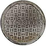 Funny Door Mats Sewer Cover Welcome Doormat NYC Sewer 2 Feet Round