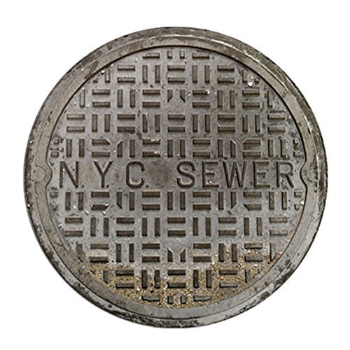 AU Funny Door Mats Sewer Cover Welcome Doormat NYC Sewer 2 Feet Round (Manhole Cover Rug)