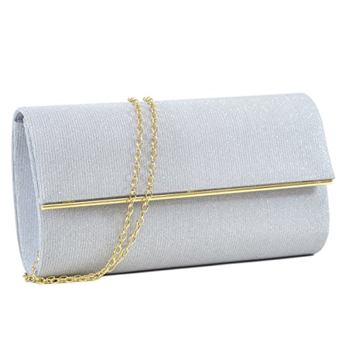 Evening Designer Handbag For Bags Ladies Party Clutch Women Frosted Glitter Silver Clutch Bag Elegant Wedding Leather r8r7xqEw