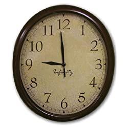 ITC (32040TF-CF-DB Oval Wall Clock with Crackle Face