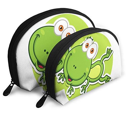 (Eqdrx Customized Frog Seashell Portable Zipper Bag (2 Packages), Suitable for Men, Children's Bags, Women, Cosmetics, Tools, Handbags/Handbags, Suitcases, Women's Accessories )