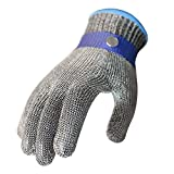 Safety Cut Proof Stab Resistant Stainless Steel Metal Mesh Butcher Work Glove L