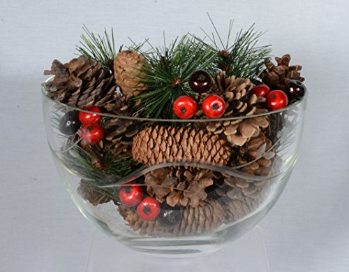 Christmas and Holiday Pine Cones and Berries Bowl Filler / Vase Filler