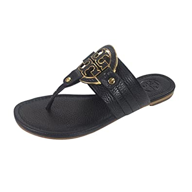 b8519bbac3a7 Tory Burch Amanda Flat Thong Sandals Black Size  4.5 UK  Amazon.co ...
