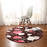GIY Soft Round Area Rugs Living Room Carpet Circular Children Bedroom Rug Bathroom Mats Home Decorate Fashion Non-Slip Modern Runners Wine Red 3.5' X 3.5'