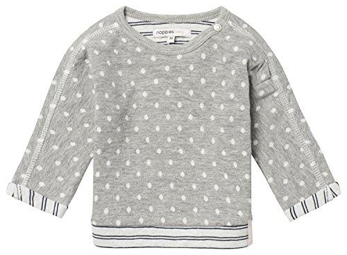 Noppies Baby-Mädchen Sweatshirt G Sweater Ls Barni, Grau (Grey Melange C246), 68