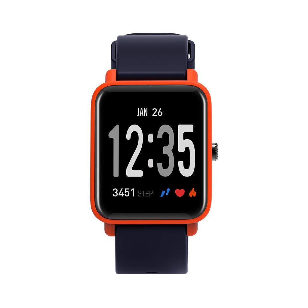 CZYCO 2.5D Curved Screen Health Bracelet Heart Rate Blood Pressure Sleep Monitoring Sports Smart Watch(Orange) by CZYCO