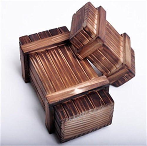 Epaynetwork Mini Caja de Rompecabezas mágico de Madera con cajón ...
