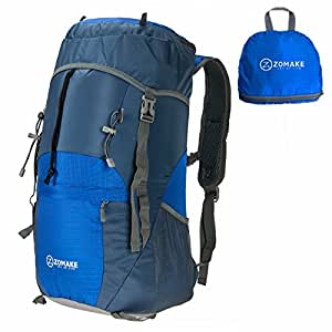 Lightweight Foldable & Packable Hiking Daypack Waterproof Travel Backpack 40L Fits Men and Women for Camping,Mountaineering