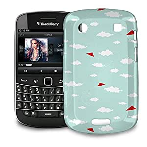 Phone Case For BlackBerry Bold 9900 / 9930 - Red Paper Airplanes Back Premium