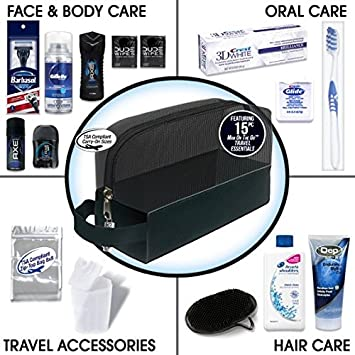 Convenience Kits Young Mens Premium 15 Count Travel Kit, Featuring: Axe Hair & Body Products in...