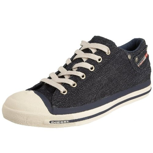 Diesel Exposure Low Indigo Denim Mens Canvas New Trainers Shoes Boots-9 178f4faaa28