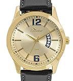 Relógio Condor Masculino Casual Couro Dourado - Co2115ksx / 2d