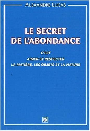 Livres gratuits en ligne Secret de l'abondance pdf epub