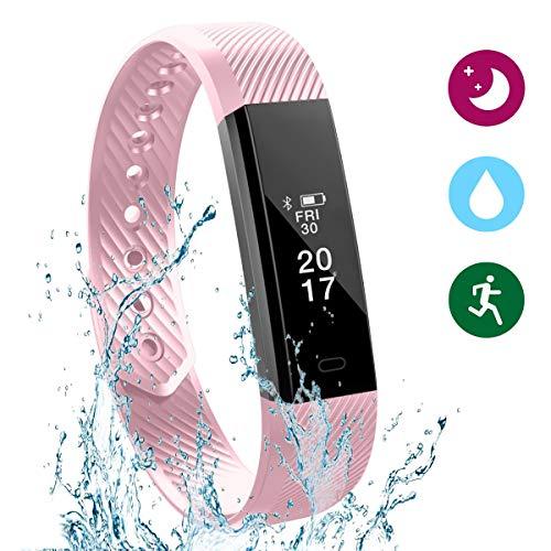 Glückluz Pulsera Actividad Pulsera Inteligente Impermeable 67 Monitor de Sueño y Calorías Podómetro Despertador Cámara...
