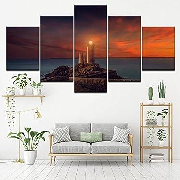 PAINTING Gerahmte Leinwand Bilder Wohnzimmer Wand Dekor Kunst Rahmen ...