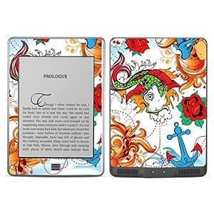 B 0072-0004-0052 pez con ancla Diabloskinz Skin para Amazon Kindle Touch
