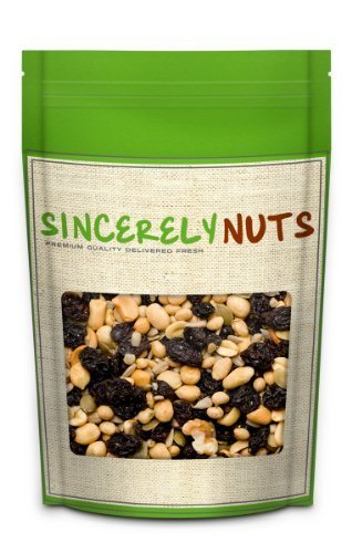 Sincerely Nuts Deluxe Raisin Nut Mix 3 LB - Raisins, Sunflower Seeds, Peanuts , Soy Nuts , Walnuts, Cashews , Shelled Pumpkin Seeds (Walnut Cashew)
