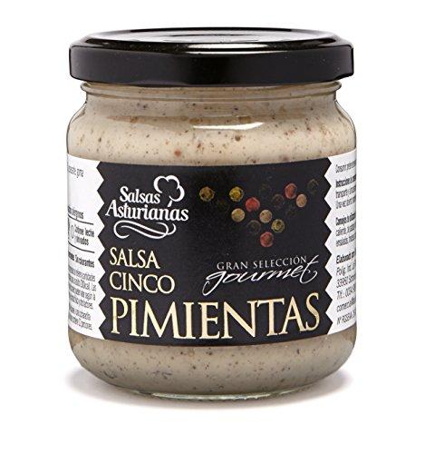 Salsas Asturianas, Salsa Cinco Pimientas, 5 pepers saus, 190 g