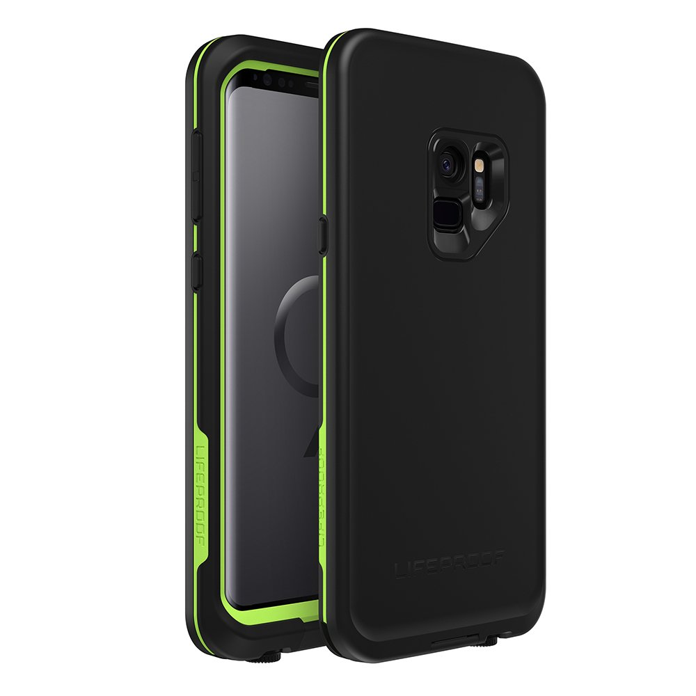 huge selection of 86fbc e3b6a Lifeproof FRĒ Series Waterproof Case for Samsung Galaxy S9 - Retail  Packaging - Night LITE (Black/Lime)