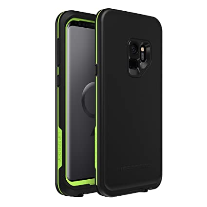Lifeproof FRĒ Series Waterproof Case for Samsung Galaxy S9 - Retail Packaging - Night LITE (Black/Lime)