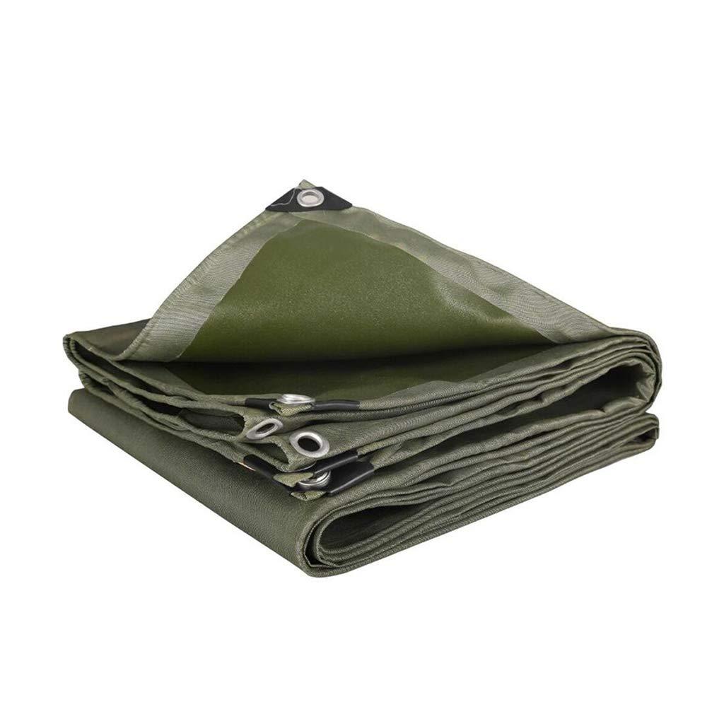 Kffc Lonas y amarres Espese la Lona Protectora Impermeable Cubierta Solar Protectora toldo del Coche Aislamiento de Lona Exterior se Puede Personalizar (Tamaño : 4  4m)