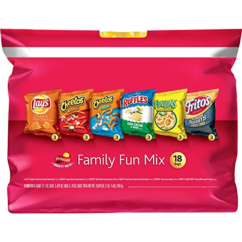 Frito-Lay Family Fun Mix Variety Pack, 18 Count (Box Classic Mix Chips)