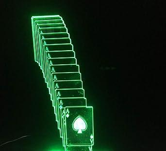 3d Illusion Lámpara luces de la noche 7 colores LEDJugando a ...