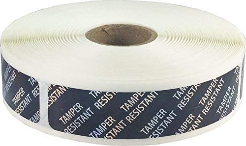 Tamper-Resistant Holographic Labels, 0.75 x 3.5 Adhesive Stickers, 500-Pack