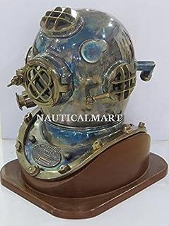 nautique Mart Nauticalmart États-Unis Marine plongée casque de plongée–Antique