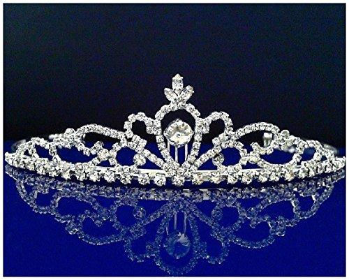 Rhinestones Crystal Wedding Bridal Prom Pageant Princess Tiara Crown (Plastic Rhinestone Brooch)