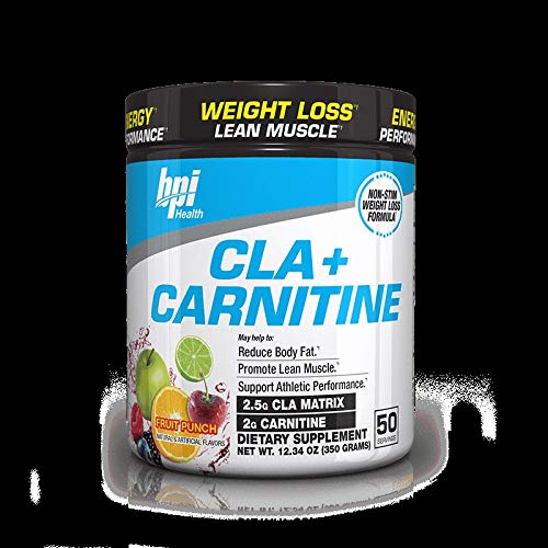 BPI Sports -BPI Health CLA + Carnitine, Fruit Punch, 50 Servings, 11.29 oz, (329 Grams)