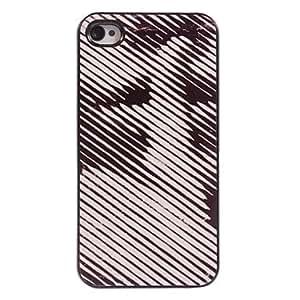SHOUJIKE Stripe Design Aluminum Hard Case for iPhone 4/4S
