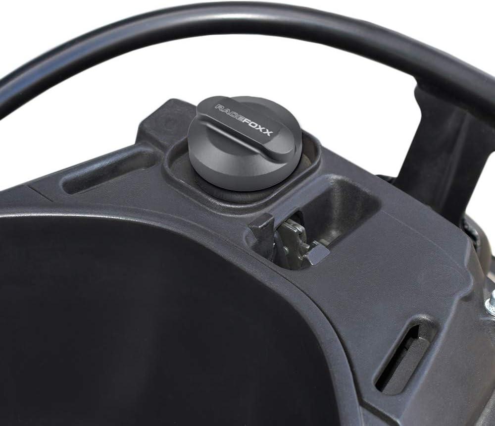 Tank anthrazit f/ür alle Vespa Verschluss Tankdeckel Aluminium Deckel Tankverschluss