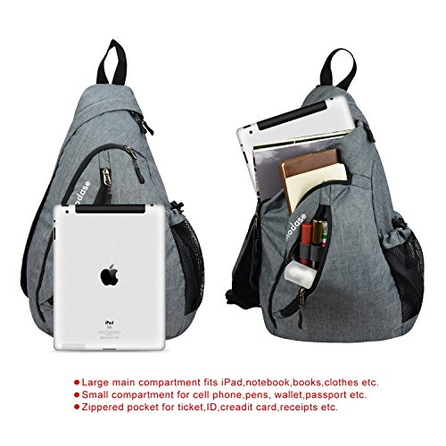 modase Sling Bag Travel Chest Shoulder Backpack Crossbody Bags for Men - Water  Resistant Outdoor Sling 0d207844fbc52