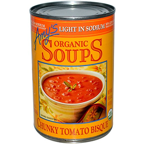 Amy's, Organic Soups, Chunky Tomato Bisque, Light in Sodium, 14.5 oz (411 g)(Pack of - Chunky Bisque Organic Tomato
