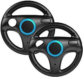 booEy 2x Lenkrad Wheel für Nintendo WII und Wii U Mario Kart schwarz