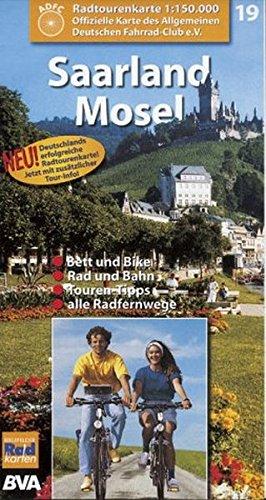 Radtourenkarten 1:150000 (ADFC): ADFC Radtourenkarten, Saarland, Mosel (Englisch) Taschenbuch – 2001 ADFC 19 RADTOURENKARTE BVA Bielefelder Verlag 387073079X MAK_GD_9783870730796
