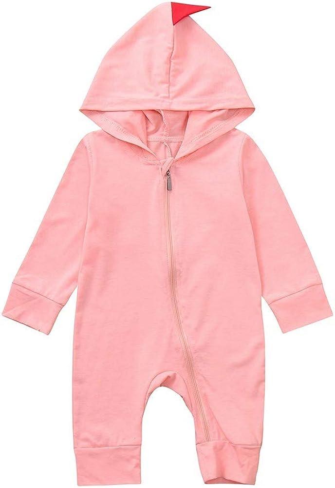 JUTOO Neugeborenes Baby Jungen M/ädchen Unisex Dinosaurier Hoodie Strampler Overall Outfits Set Kleidung 3-24 Monate