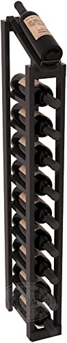 Wine Racks America Redwood 1 Column 10 Row Display Top Kit. Black Stain Satin Finish