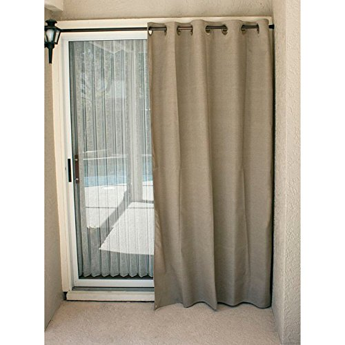 Coolaroo Designer Curtain, 60 by 96-Inch, Dark Linen (Dis...