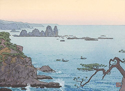 Japanese Art Print Irozaki, Morning by Yoshida Toshi