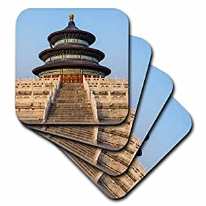 Danita Delimont - Temples - Temple of Heaven and Hall of prayer for the Harvest, Beijing, China - set of 4 Ceramic Tile Coasters (cst_225548_3)