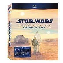 Star Wars: The Complete Saga (Episodes I-VI) Box Set [9-Disc Blu-ray] (Bilingual)