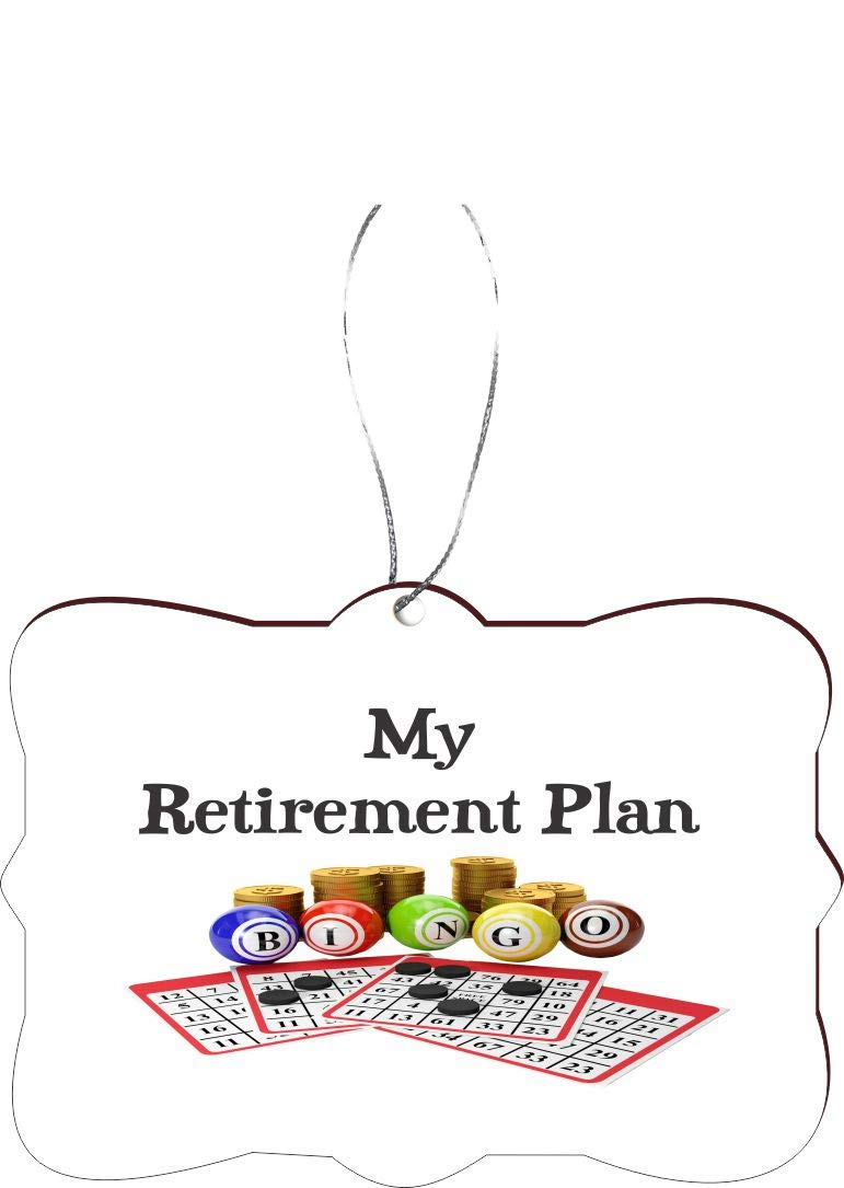 Rikki Knight My Retirement Plan is Bingo Funny Quotes Design Tree Ornament