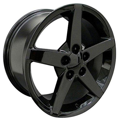 OE Wheels 17 Inch Fits Chevy Camaro Corvette Pontiac Firebird C6 Style CV06A Gloss Black 17x9.5 Rim